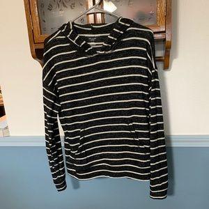 Striped Long Sleeve W/Hoodie